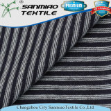 Indigo Striped Single Jersey Knit Denim Fabric