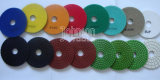 75-125mm Type de moule en spirale Diamond Polishing Pads for Polishing Granite and Marble