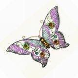 정원을%s 다채로운 주조된 금속 나비 벽 훈장