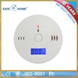 Detetor a pilhas do Co do monóxido de carbono com indicador do LCD