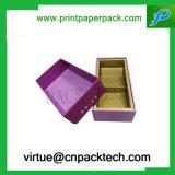 El lujo imprimió el rectángulo de regalo de encargo de la cartulina para el reloj del vino