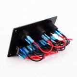 Voltmeter+Cigarette Socket+USB Energien-Aufladeeinheits-Adapter-Montierungs-Schalter-Panel