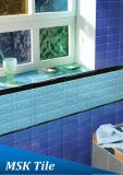 75X150mm Regentropfen-Skyblue glasig-glänzende keramische Untergrundbahn-Fliese