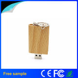 Movimentação de madeira natural do flash do USB da forma do livro (Jv1390)