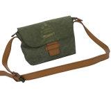 가죽 버클 녹색에 의하여 세척되는 Kraft 종이 끈달린 가방 (16A087-2)