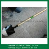 Лопата лопаткоулавливателя ручки круглого пункта лопаты длинняя деревянная