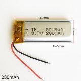 501540 3.7V de Batterij van het Polymeer van het 280mAhLithium voor Handbediende GPS Navigator MP3 MP4 MP5 Bluetooth