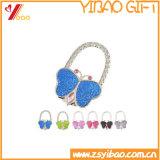 Gancho de bolsa de cristal com dobra de forma personalizada (YB-LY-pH-01)