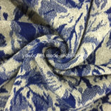 Ткань шерстей жаккарда листьев лотоса готовая