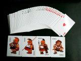 4 tarjetas que juegan del póker del papel del casino de los bromistas para Mamaysia