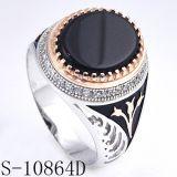 Ring van Vinger 925 van de fabriek de In het groot Zilveren voor de Mens