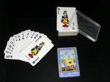 Mini cartões de jogo de papel com os cartões do anel chave/póquer/jogo de cartão