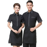 Uniforme uniforme de ménage de personnel d'hôtel de coton
