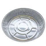 """7 """" conteneur en aluminium remplaçable de clinquant de couvercle à emporter rond du carter W/Clear"""