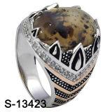Pietra naturale dell'anello d'argento dei monili 925 di modo