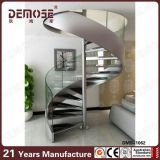 Escalera espiral de cristal de interior para la venta (DMS-1062)