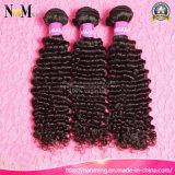 Pelo humano del Afro del pelo rizado de la Virgen adicional malasia de las extensiones (QB-MVRH-DW)