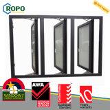 Colore grigio Windows francese del PVC con costruito in ciechi