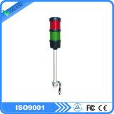 luz de advertência Tricolor do diodo emissor de luz da tabela de trabalho 220VAC