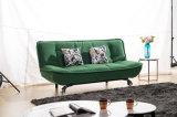 Base di sofà del tessuto della pelle scamosciata della Due-Sede del salone
