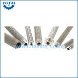 Tubos filtrantes hechos punto de acoplamiento de alambre del acero inoxidable