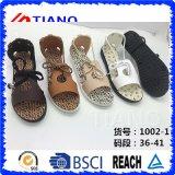 Sandalias planas del gladiador de moda del verano de las mujeres de la manera (TNK50039)