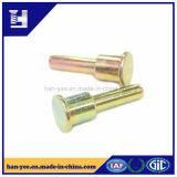 Remache principal plano/redondo del metal de encargo del empuje