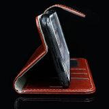 Het in het groot Geval/de Dekking van de Telefoon van het Leer van Pu Beschermende met de Houder van de Kaart