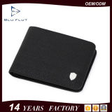 Бумажники изготовленный на заказ логоса просто конструкции неподдельные черные кожаный для людей