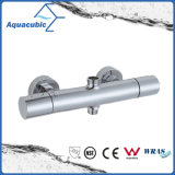 Soupape de douche thermostatique de mélangeur de barre ronde de chrome de salle de bains (AF4313-7)