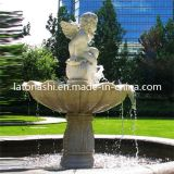 Jardim Ornaments, Marble Stone Water Fountain com Angel Statue/escultura