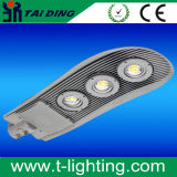 A fonte luminosa do diodo emissor de luz e morre a lâmpada de rua do corpo do alumínio de carcaça