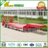 Transport Heavy Excavator Low Bed Semi Truck Trailer