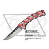 """4.8は""""閉じたばねのミラーの刃(4PN75-50MF)が付いている補助想像のナイフを"""