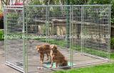 Geschweißte galvanisierte Hundehundehütte, Maschendraht-runder Gefäß-Hunderahmen