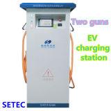 Estação cobrando de EV com 2 saídas