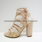 Горячие продавая сандалии высокой пятки пятки способа женщин коренастые