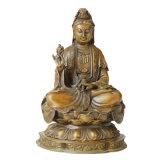 Statua d'ottone Tpfx-B90 di Avalokitesvara del loto della scultura Bronze del Buddha