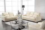 Jeu blanc de sofa de bureau et de salle de séjour de combinaison de cuir de couleur