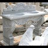 Marmeren Bassin van de Was van Metrix Carrara van het Bassin van de Was van het Graniet van de Steen mbm-003