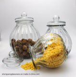 Frasco de armazenamento de alimentos com abóbora com tampa de vidro hermética