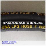 Tuyau à haute pression tressé de LPG en caoutchouc de fil d'acier