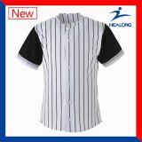 メンズボタンの安い習慣カラー野球チームのユニフォームのジャージのワイシャツ