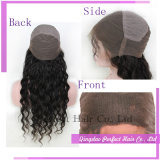 Pelucas llenas del cordón del frente del pelo humano con el pelo del bebé