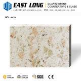 Слябы камня поверхности кварца цвета гранита дешевой фабрики сразу