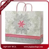 Bolsa de papel del regalo de la Navidad de los compradores del cordón de la Navidad