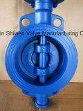 Сверхмощная клапан-бабочка вафли уплотнения металла с шестерней