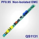 fuente de alimentación sin aislar de la lámpara de 18-30W Hpf con EMC QS1131