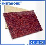 El PE y PVDF Wooden Texture Aluminium Decoration Composite Panel