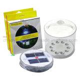 Lâmpada solar/lanterna solar/ao ar livre inflável ou caminhando o uso/lanterna de acampamento solar/luz solar